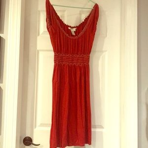 Red/Burnt Red Casual Dress